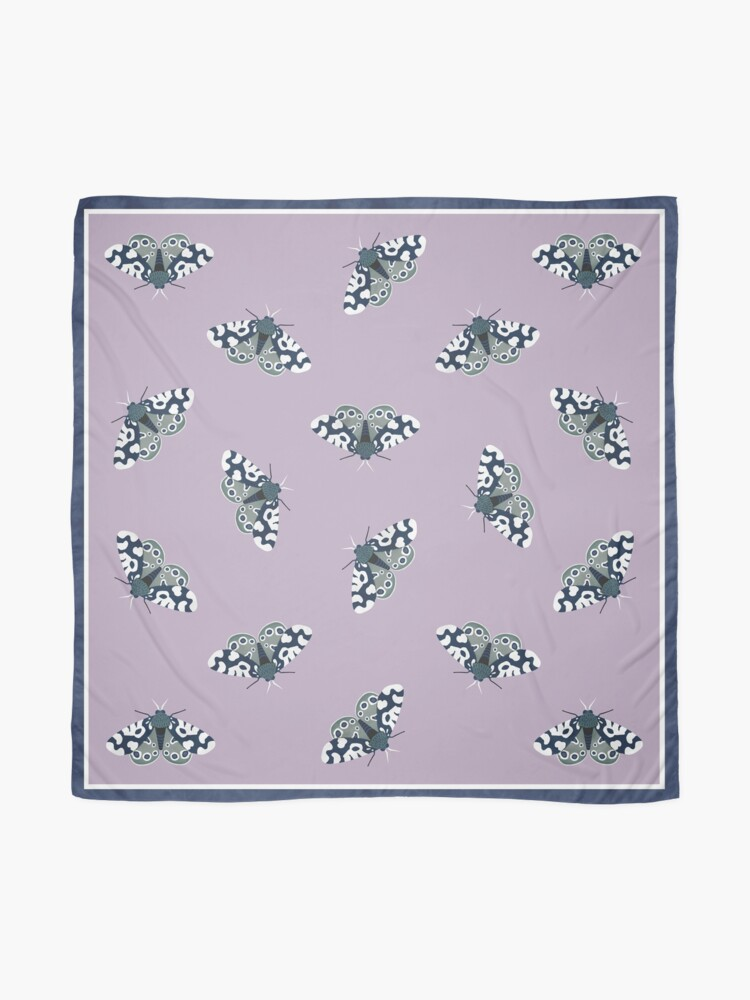 Alternate view of Mod Moths - Navy and Lilac Scarf