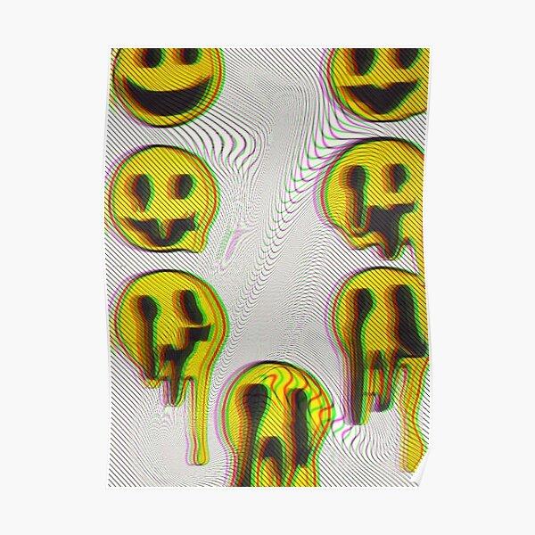 Trippy Smiles Poster