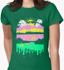 Happy Lake Womens Fitted T-Shirt
