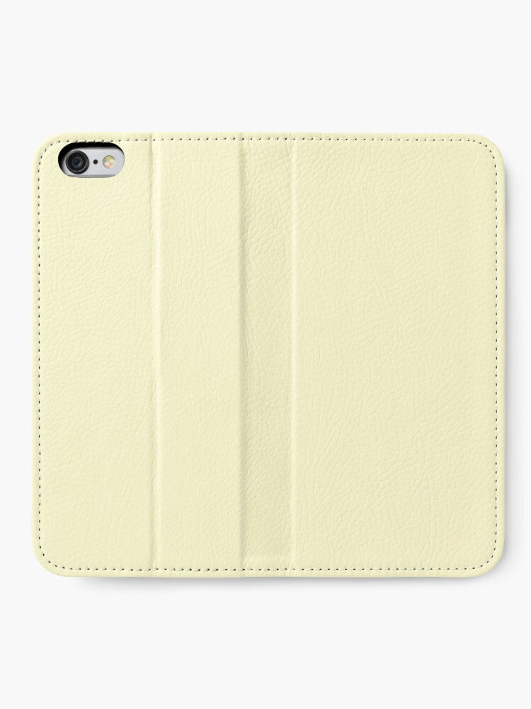 Alternate view of Pastel Lemon Yellow Pale Soft Meringue Yellow Solid Color iPhone Wallet