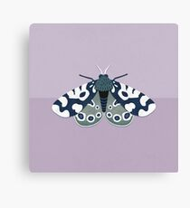 Mod Moths - Navy and Lilac Canvas Print