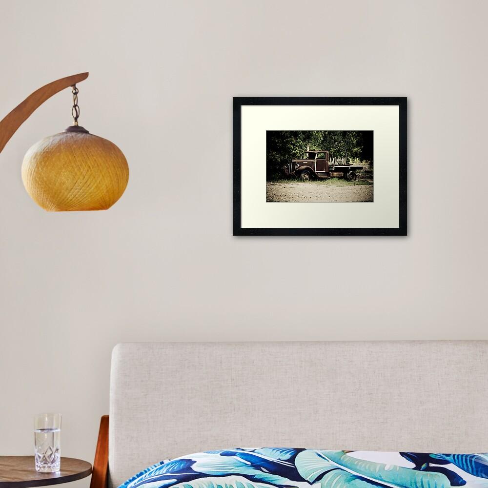 Keep on Trucking Framed Art Print