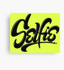 Wicked Acid Neon Green - Only for the Brave - Awesome Selfie Lettering Canvas Print