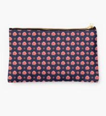 Salmon Pink Rose Studio Pouch