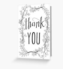Thank You - Flower Wreath Greeting Card