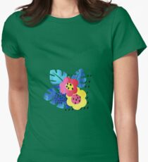 Watercolor tropical bloom Womens Fitted T-Shirt