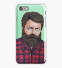 Nick Offerman as Ron Swanson from Parks and Rec iPhone Case/Skin