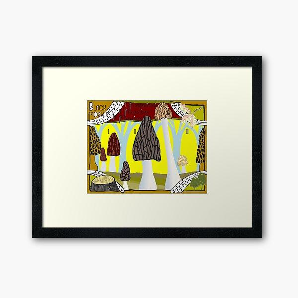 Black Morels Framed Art Print