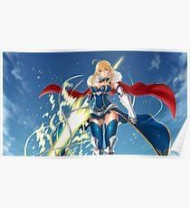 Saber- Goddess of war Poster