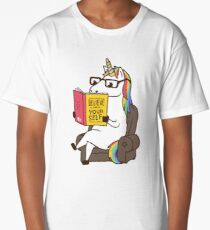 Unicorn Believe in Yourself Magical Fabulous Long T-Shirt