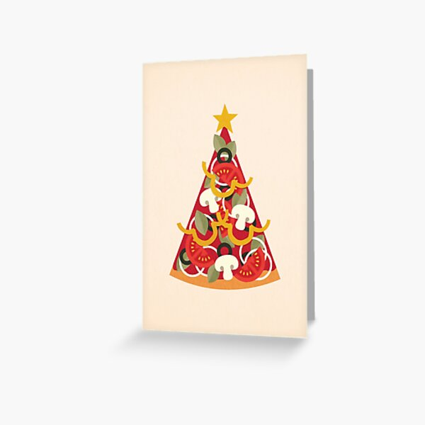 Pizza on Earth - Vegetarian Greeting Card