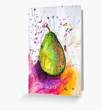 Pastel Pear Splash Greeting Card