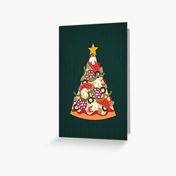 Pizza on Earth - Pepperoni Greeting Card