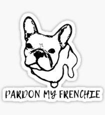 Pardon My Frenchie Sticker