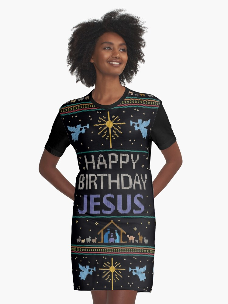 Ugly Christmas Sweater - Knit by Granny - Happy Birthday Jesus ...