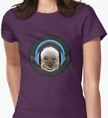 Dog Jams Womens Fitted T-Shirt