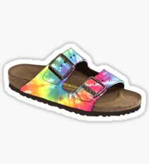 Tie Dye Birkenstocks Sticker