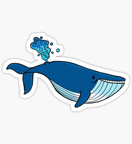 feliz ballena Pegatina