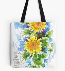 Sunflowers, France Tote Bag