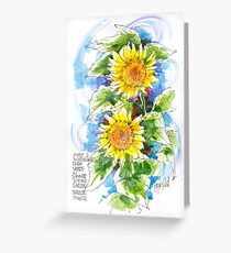 Sunflowers, France Greeting Card
