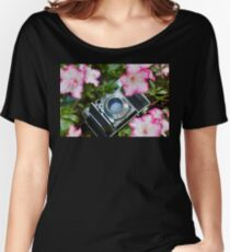 Retro Camera In Bloom Women's Relaxed Fit T-Shirt