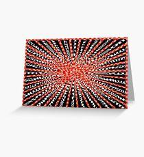 Red Burst Greeting Card