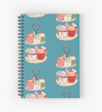 High Tea Cupcakes on Blue Spiral Notebook