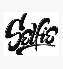 Awesome Skateboard Graffiti Selfie Street Art Lettering Photographic Print