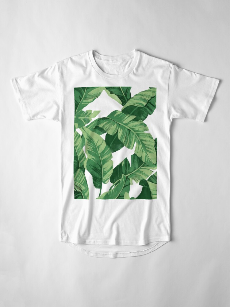 Alternate view of Tropical banana leaves II Long T-Shirt
