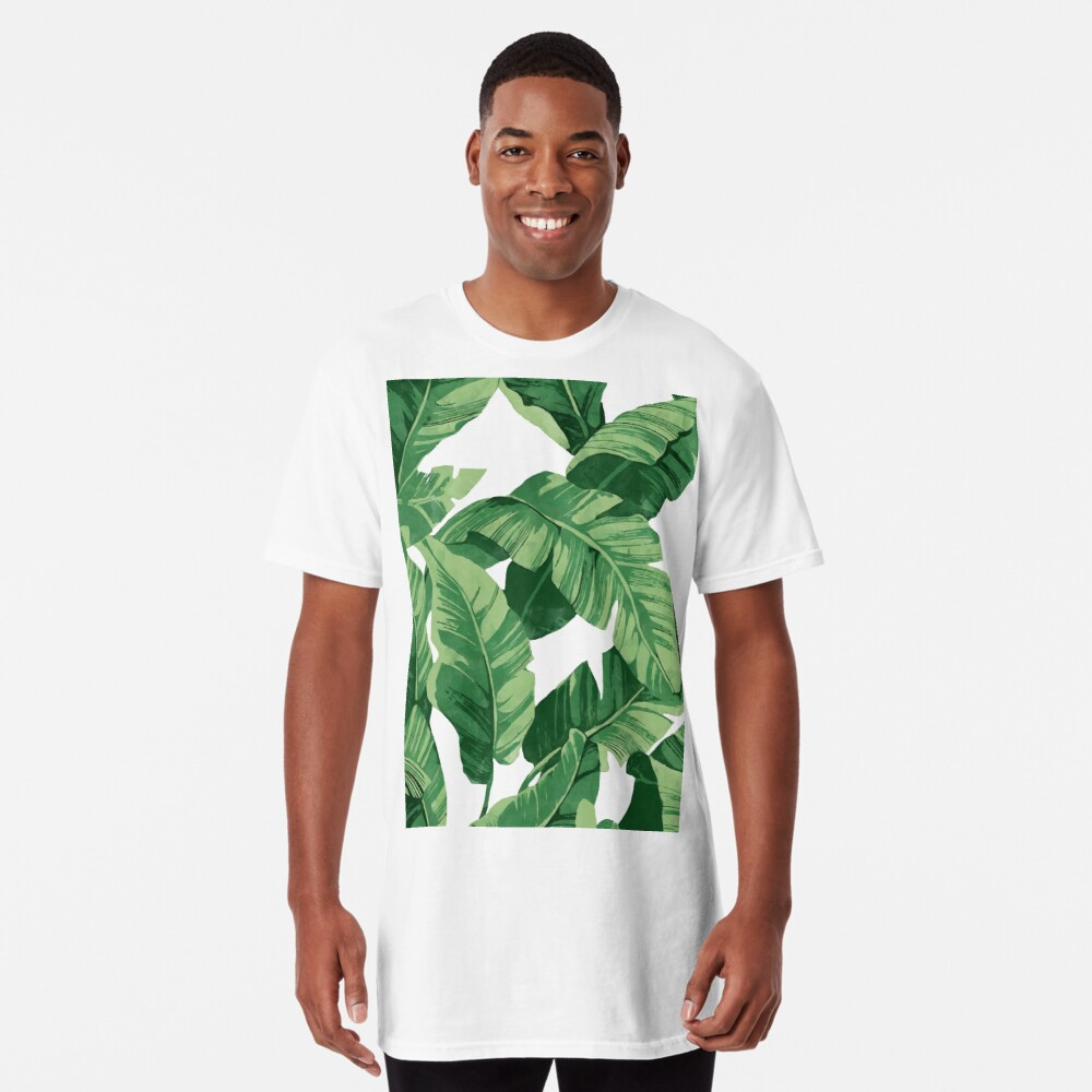 Tropical banana leaves II Long T-Shirt