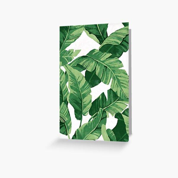 Tropical banana leaves II Greeting Card