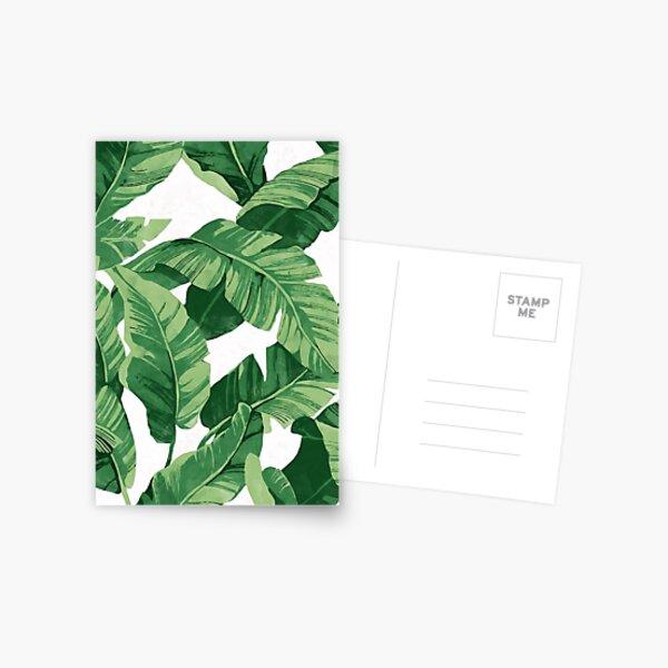 Tropical banana leaves II Postkarte