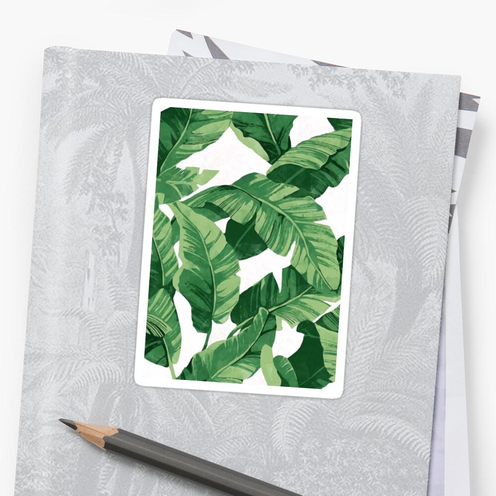 Tropical banana leaves II Sticker