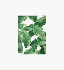 Tropical banana leaves II Art Board