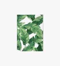 Tropical banana leaves II Art Board Print