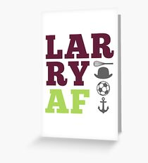 LARRY AF w/whisk and anchor Greeting Card