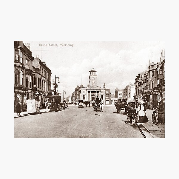 Ref: 02 - South Street, Worthing, West Sussex. Photographic Print
