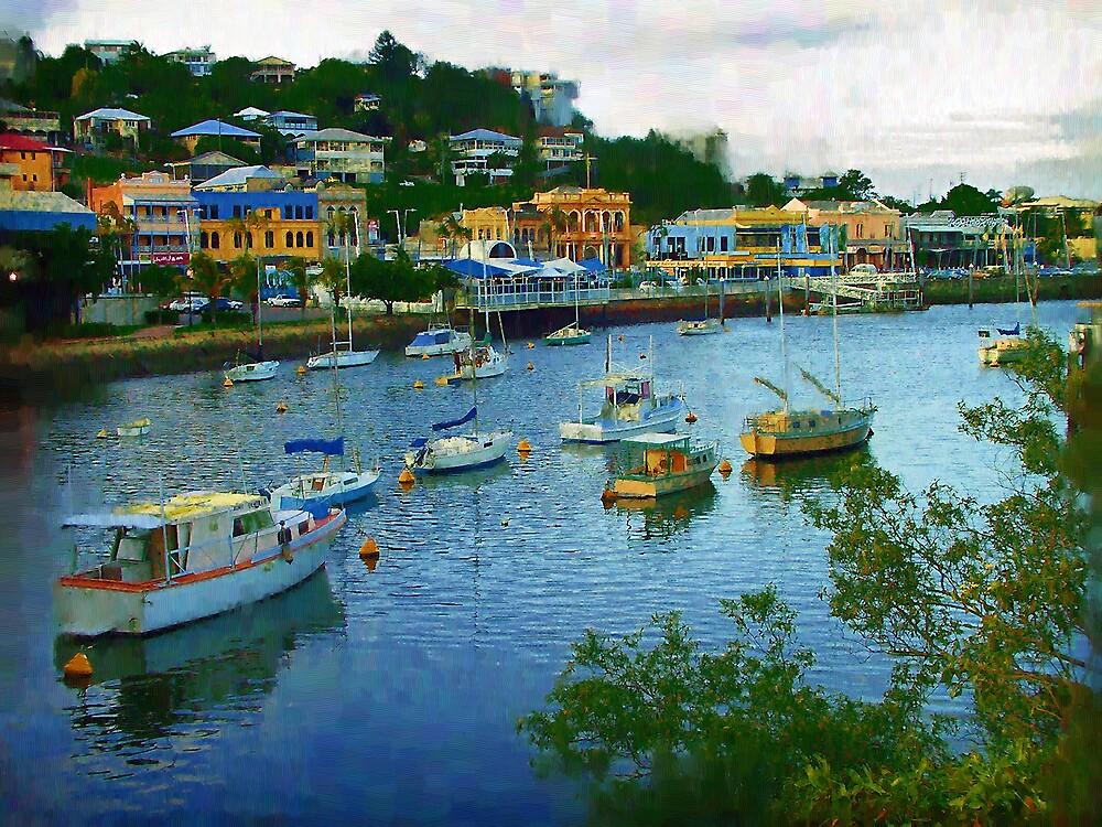 Ross Creek, Townsville by Frank  McDonald