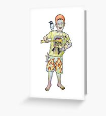 Jimi y su molinete Greeting Card
