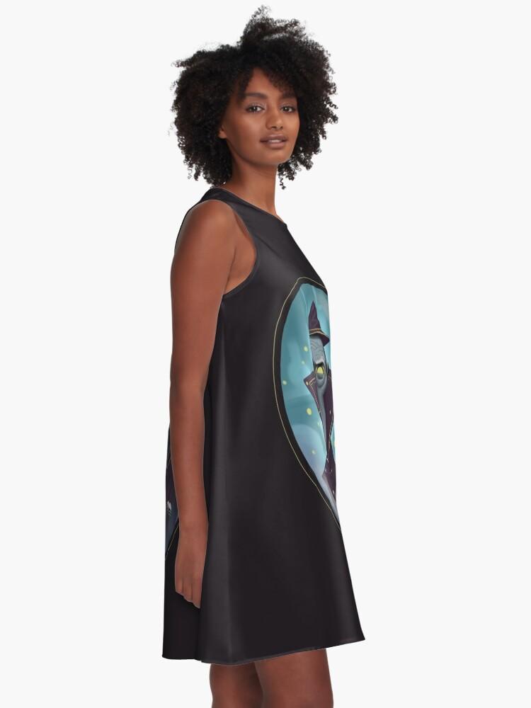 Alternative Ansicht von Hipster-Assistent A-Linien Kleid