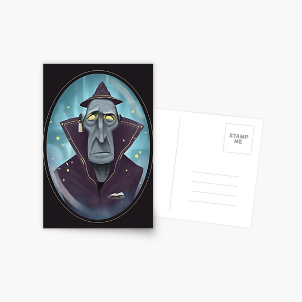 Hipster-Assistent Postkarte