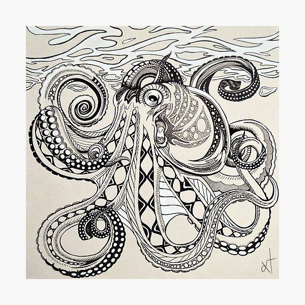 Hank the Octopus Photographic Print