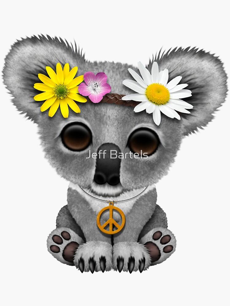 Lindo bebé Koala Hippie en rosa de JeffBartels