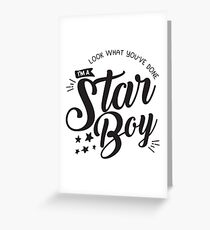 Starboy Greeting Card