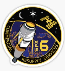 NASA/SpaceX Commercial Resupply Services CRS-6 (SpX-6) Mission Patch Sticker
