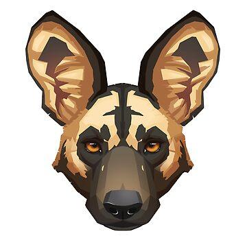 Wild Dog Portrait by PaulaLucas