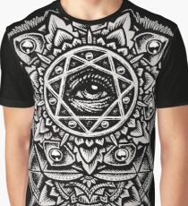 Eye of God Flower Mandala Graphic T-Shirt