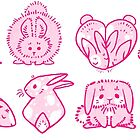 «Pink Bunnie Shapes» de Paigekotalik