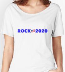 Dwayne 'The Rock' Johnson president 2020 Women's Relaxed Fit T-Shirt
