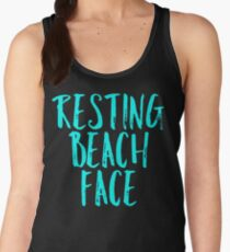resting beach face Women's Tank Top
